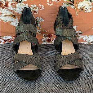 Black & Silver strappy Heels